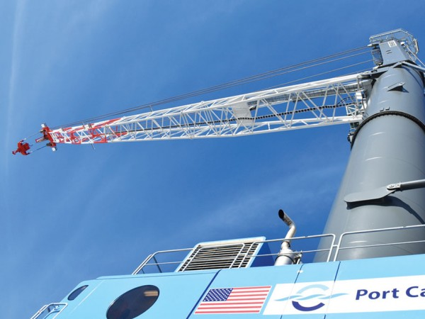 The new mobile harbor crane at Port Canaveral is being touted as largest of its kind in the United States.