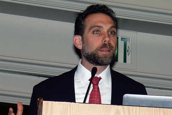 Joshua Hurwitz, senior consultant with Moffatt & Nichol, sees U.S. Southeast ports continuing to lead growth in containerized cargo activity that should keep outpacing overall economic gains. (Photo by Paul Scott Abbott, AJOT)