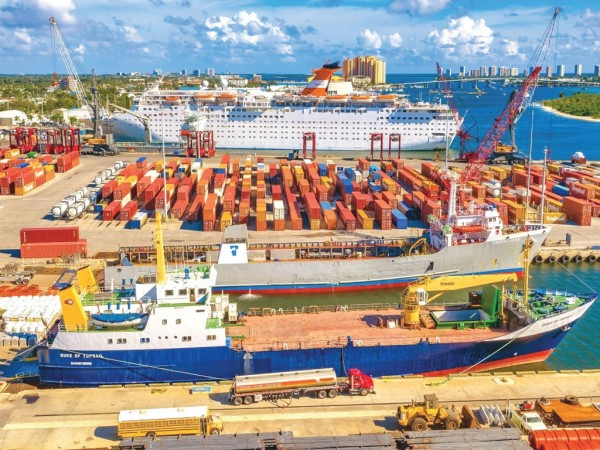 Cargo activity at the Port of Palm Beach is benefiting from late 2018 completion of a new Berth 17 minislip.