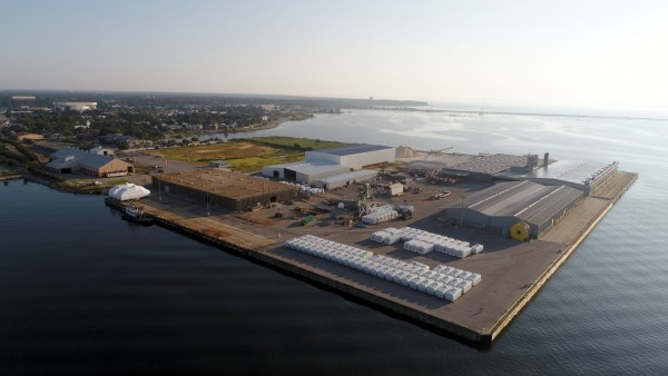 GE Wind Energy nacelles are stored on-dock at Port Pensacola, which is finding success on a wide range of fronts.