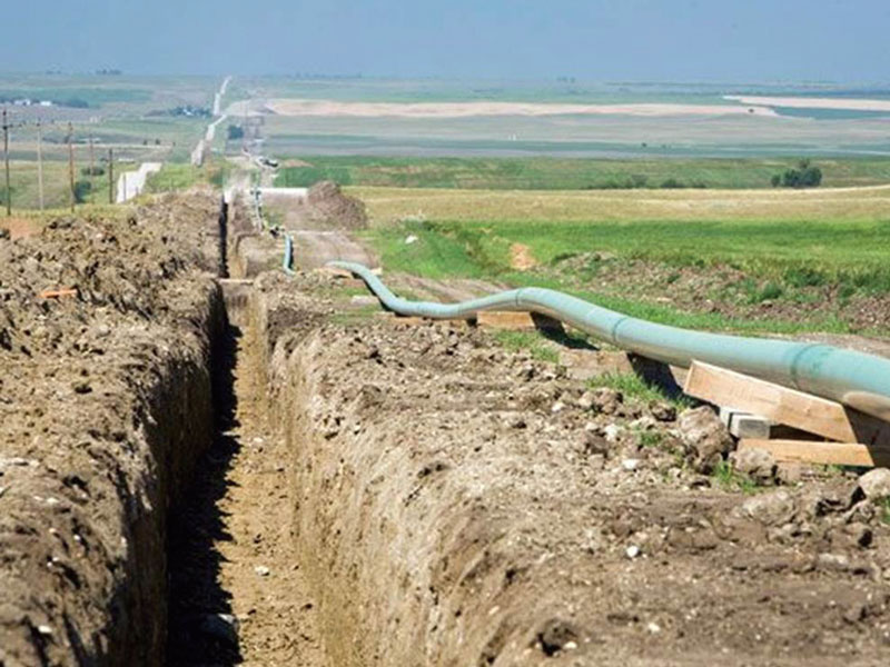 Canadian pipeline project underway