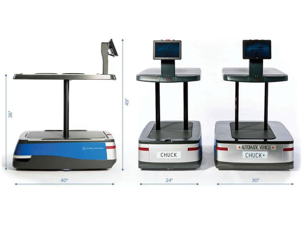 6 Rivers robots, called Chucks, are robotic pick carts.