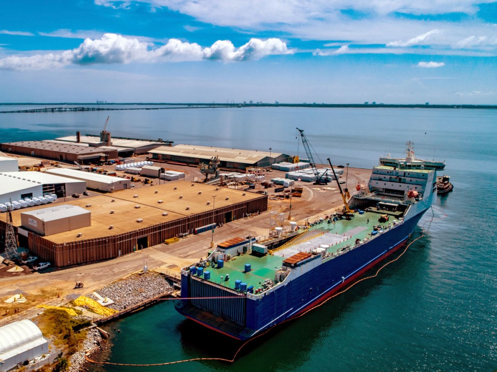The Port of Pensacola is enjoying diverse growth, led by gains in moves of breakbulk cargos and wind energy components.