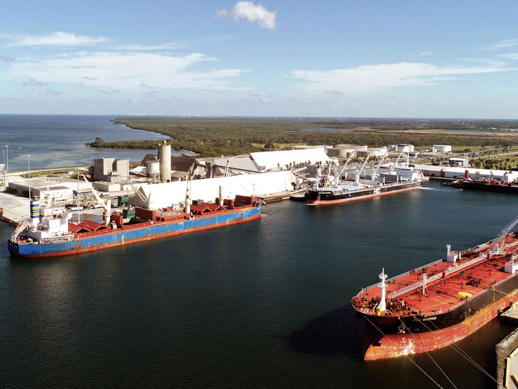 Diverse vessel activity abounds at Port Manatee, which is celebrating the 50-year anniversary of its dedication near Tampa Bay's entrance.