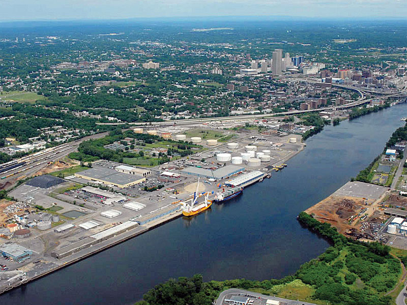 Aerial view of the Port of Albany