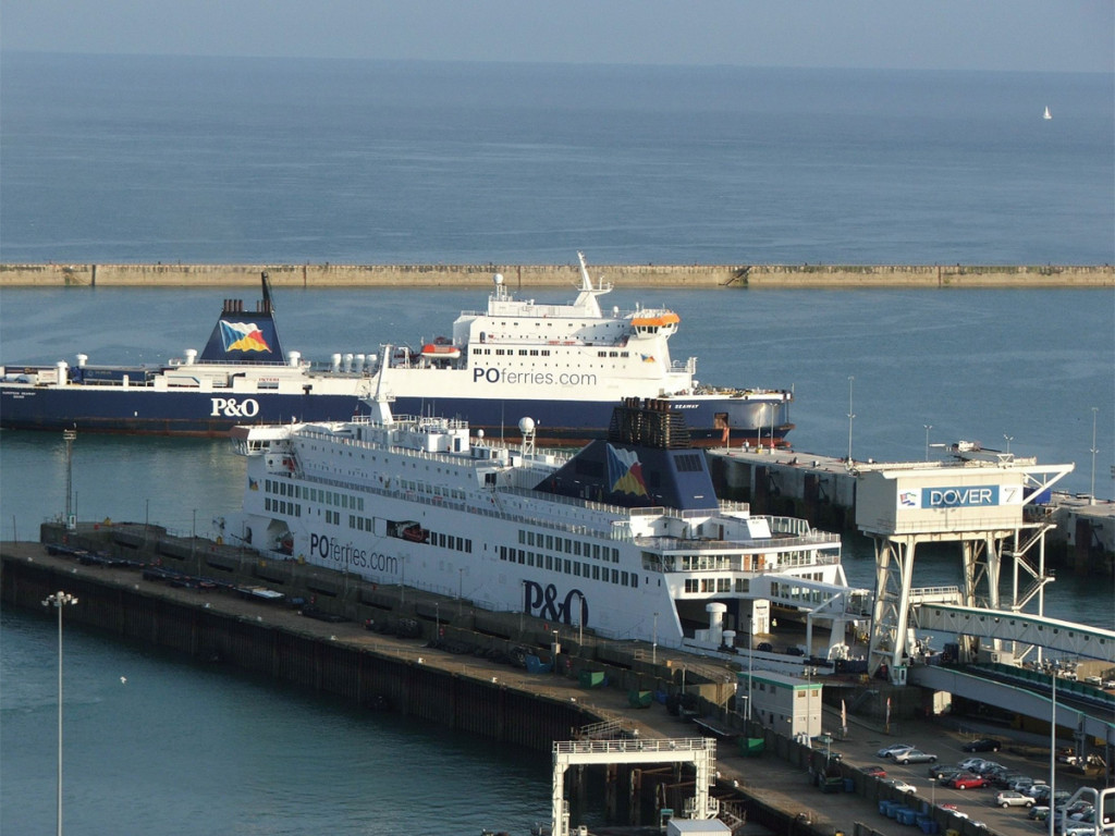 At the Port of Dover, trucks will be placed on ferries and transported across the Channel without drivers.