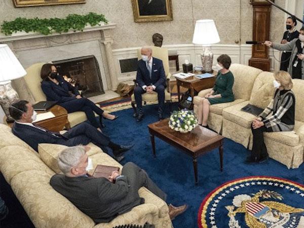 President Biden meets Senate Republicans at the White House.