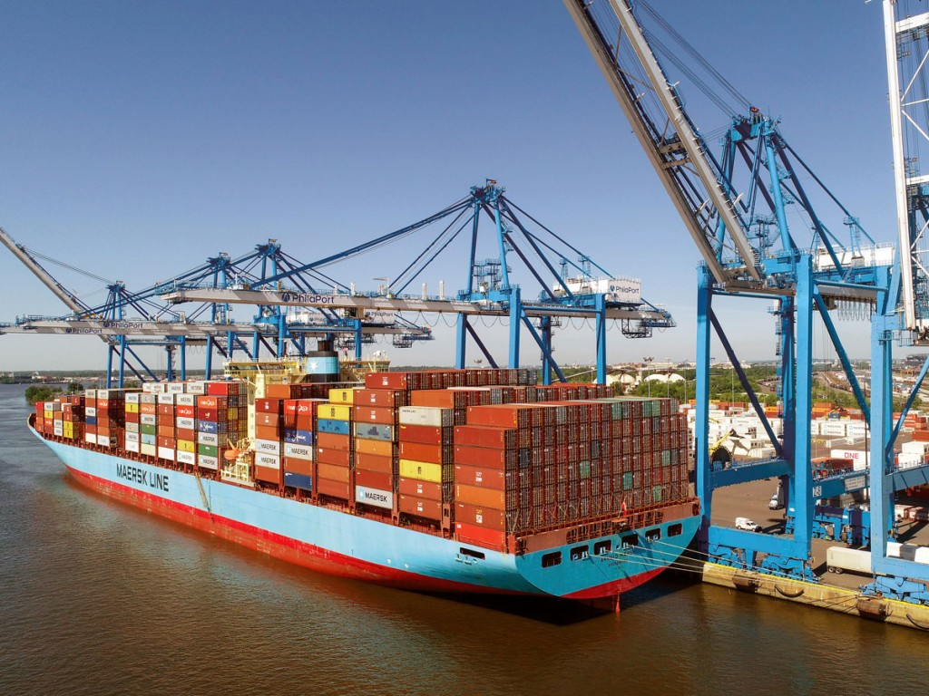 PhilaPort's Packer Avenue Marine Terminal is handling increasingly large containerships, comparable to other major U.S. East Coast ports, via a deeper Delaware River channel.
