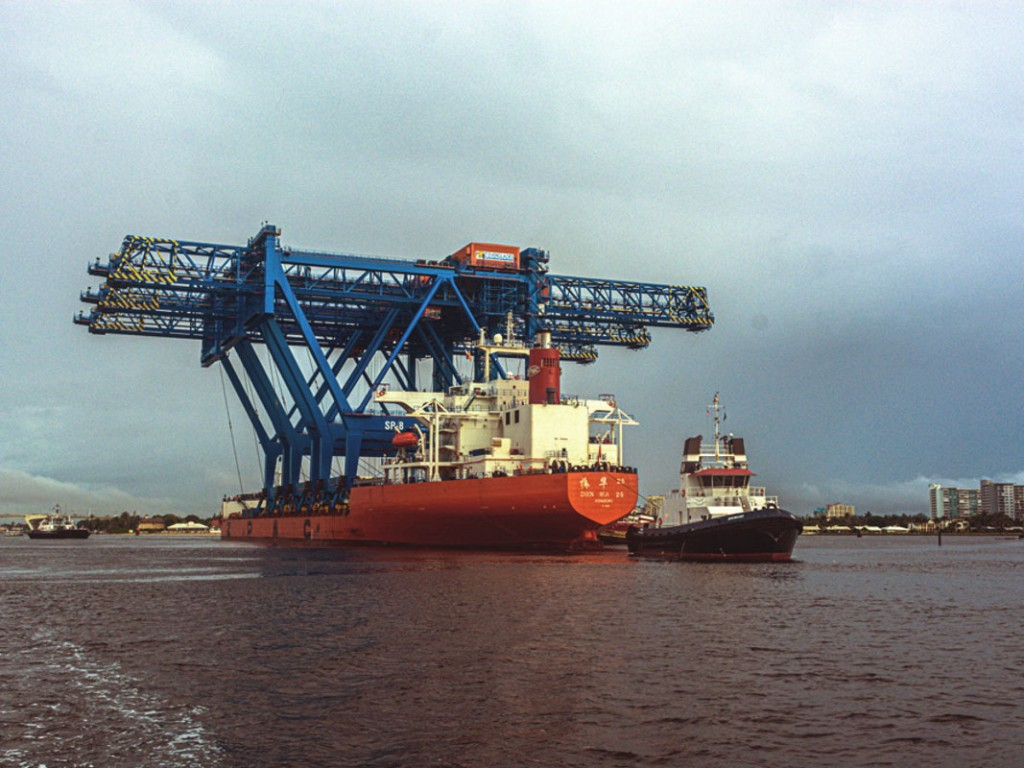 Three new super-post-Panamax container gantries arrive in November at Broward County's Port Everglades for deployment at expanding container terminal facilities.