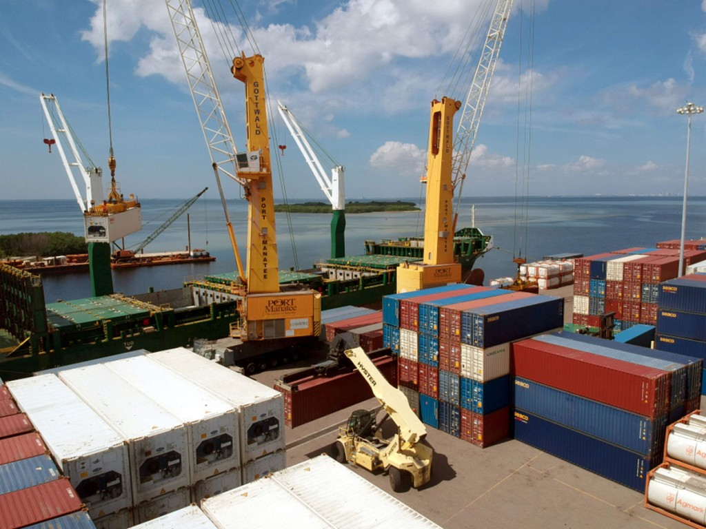 Containerized cargo activity is rising to record levels at Manatee County's Port Manatee, located near the entrance to Tampa Bay.