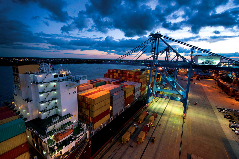 With enhanced infrastructure and technology, New Orleans Terminal efficiently handles growing volumes from increasingly large containerships.