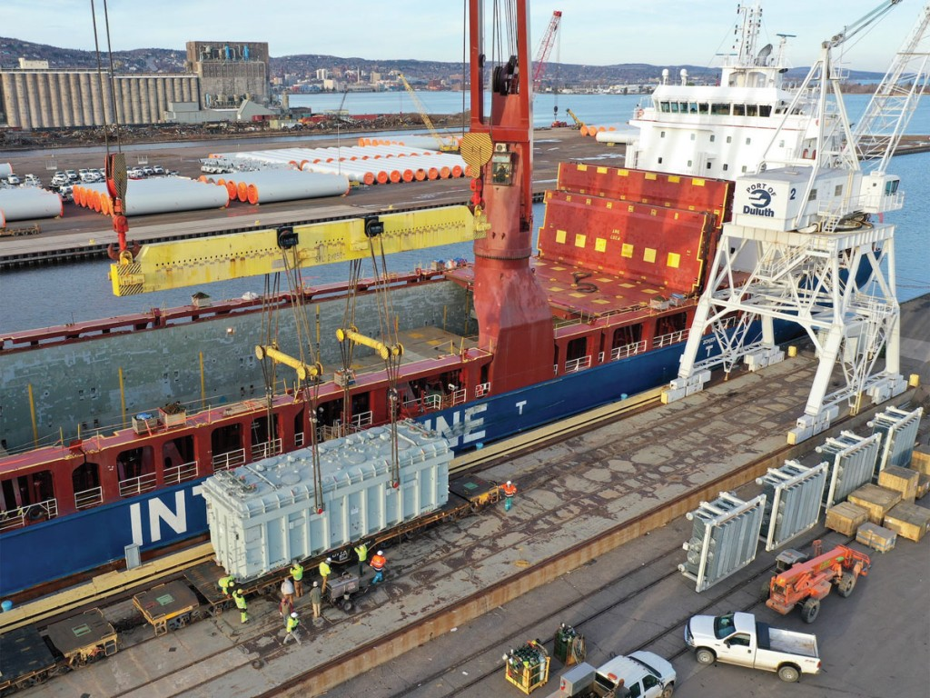 At the Port of Duluth-Superior, a 2020 total of 525,000 freight tons easily eclipsed 2019's mark of 306,000 freight tons.