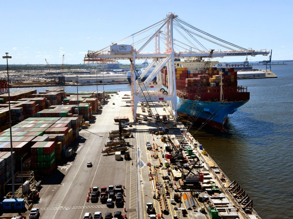 Baltimore's Seagirt Marine Terminal, operated by Ports America Chesapeake, is soon to offer a second 50-foot-deep berth, allowing the port to handle two megacontainerships at the same time.