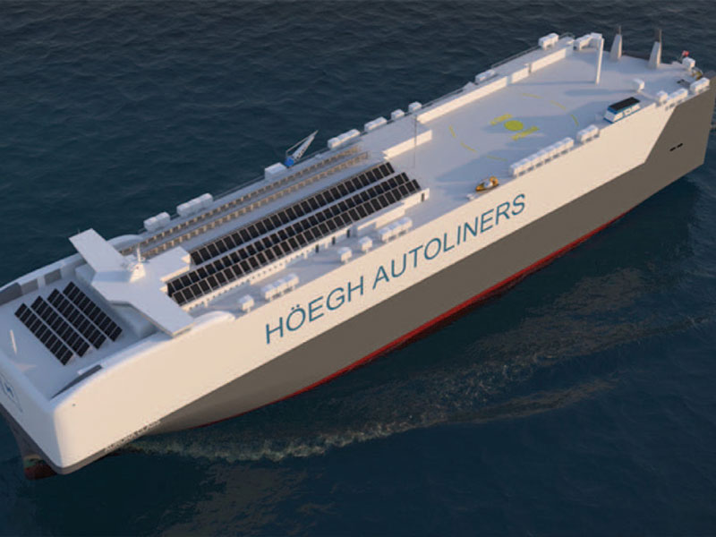 Höegh's Aurora class vessels are the first in the industry to be ready for operation running on ammonia as fuel.