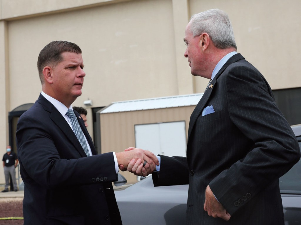 U.S. Department of Labor Secretary Marty Walsh and New Jersey Governor Phil Murphy