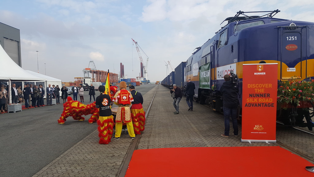 The first service on the New Silk Road from Amsterdam to China has left from Amsterdam Container Terminal