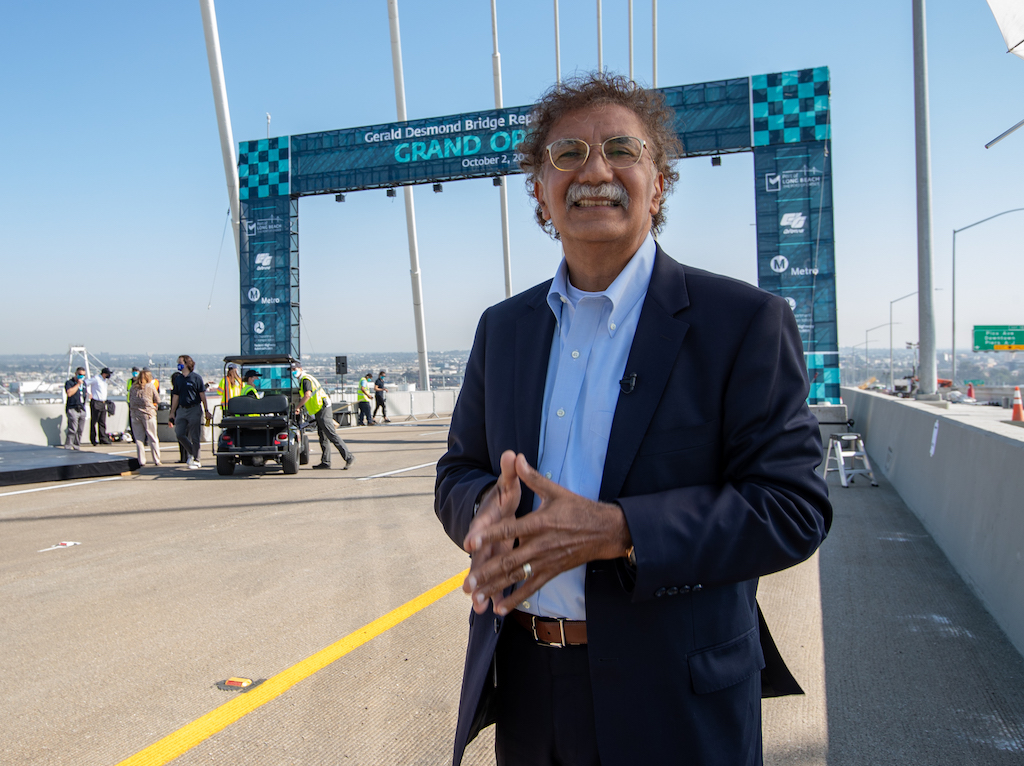 Port of Long Beach executive director Mario Cordero at opening of new Gerald Desmond Bridge