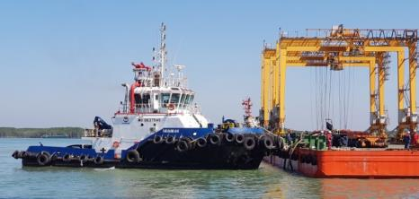 A tugboat operated by the MOL Group's tugboat company