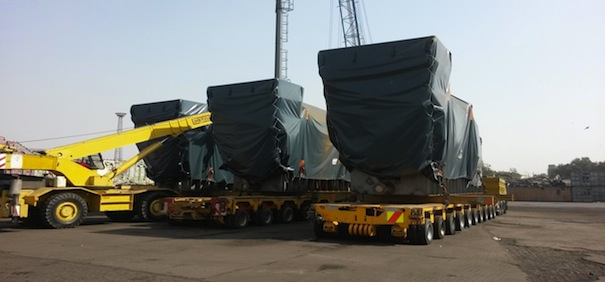 Heavy transformers and project cargo arrived in Karachi for