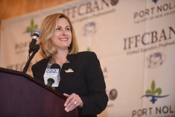 Port NOLA President and CEO Brandy D. Christian positions the Port as an international gateway while highlighting gains in cargo and cruise during the 2017 State of the Port Address.