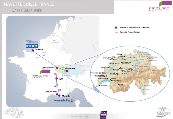 Marseille Fos and Le Havre to link in Swiss rail shuttle AJOTCOM
