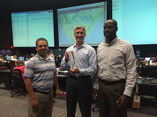 Left to right, Mike Cervin, director of revenue management, and Brian Taylor, senior manager of operations.