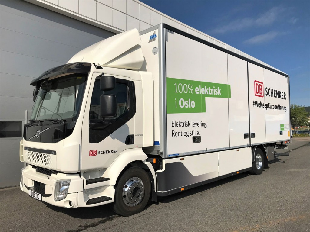 Electric truck for DB Schenker's Oslo City Hub (Picture credit: DB Schenker)