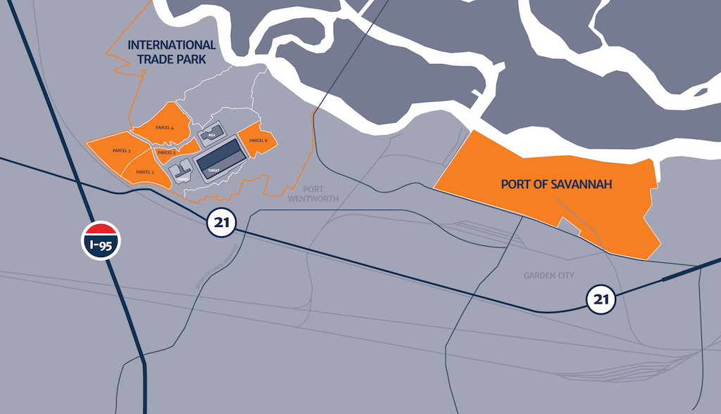 Developers have purchased five parcels, totaling 500 acres, within the Savannah River International Trade Park for warehousing and distribution operations.