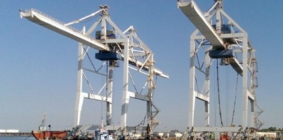 Photo: Two Post Panamax gantry cranes at GT USA Canaveral Cargo Terminal