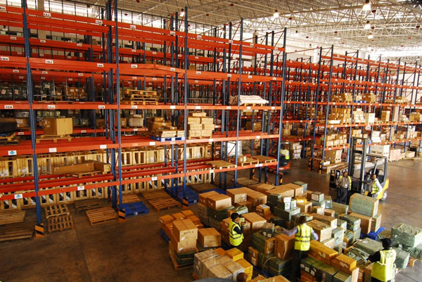 Inside the Transglobal Cargo Centre in Nairobi