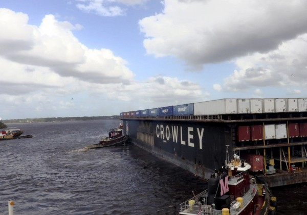 With employees working around the clock and its vessels calling the Port of San Juan almost daily, Crowley Maritime Corp. said today it will have offloaded by the end of this week more than 6,500 loads of FEMA and commercial cargo from 20 vessels since Hurricane Maria struck the island in late September. And the company projects another 9 vessels, carrying between 2,500 and 3,000 loads, will arrive in Puerto Rico next week.