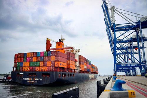 The arrival of the first ship at the Leatherman Terminal signifies the opening of the first container terminal in the U.S. since 2009. (Photo/SCPA/English Purcell)