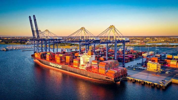 SC Ports' Leatherman Terminal adds 700,000 TEUs of cargo capacity and an additional berth for mega container ships to the East Coast port market. (Photo/SCPA/Walter Lagarenne)