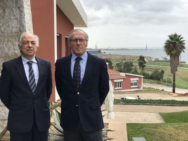 (L-R) Luis Cruz, Sapec Parques Industriais General Manager, and Fernando Fernandes, Sapec Group Director for Real Estate, in Setubal Port