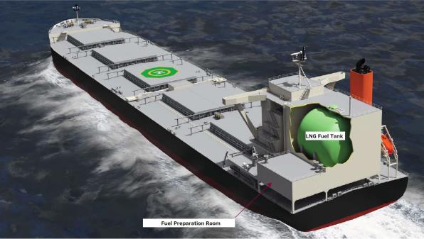 Location of LNG Fuel Tank