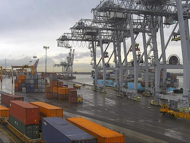 Maersk Line docked at Port of Montreal