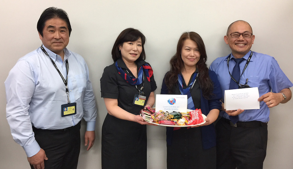 Inside the cargo offices across the world, chocolates are a favorite and managers across the organization took a moment to thank team members for their work during this busy season.