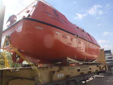 Delta Maritime ships large lifeboats from Greece to Norway | AJOT COM