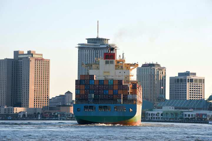 The MOL Emissary vessel part of the Ocean Network Express (ONE) line serving Port NOLA as part of THE Alliance scheduled to bring a new direct-Asia service to the Port of New Orleans.