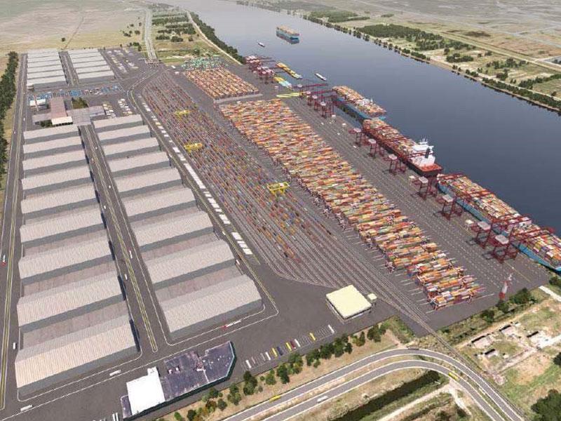 Proposed APMT Terminal at Plaquemines Port