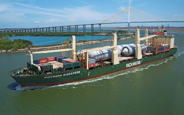 Rickmers Singapore in the Houston Ship Channel.