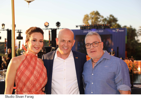 (L to R) Batya Ofer, Eli Glickman, Idan Ofer - Photo credit: Sivan Faraj