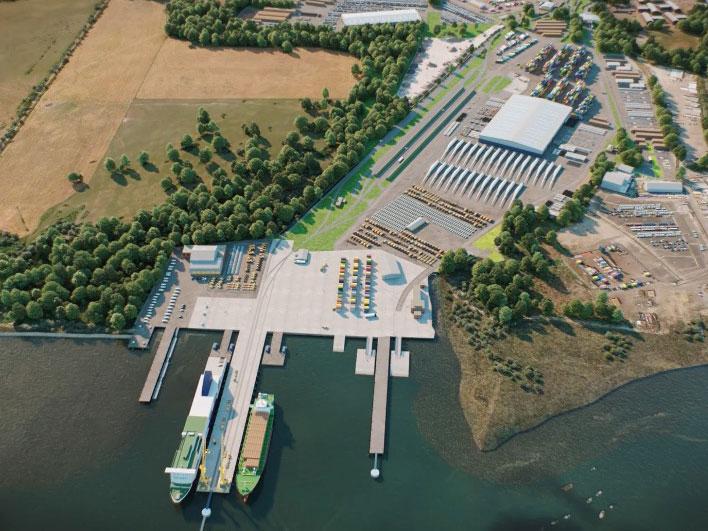 Port improvemtns post-development