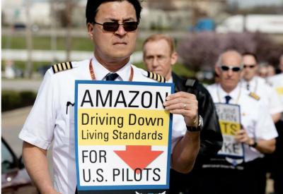 As Amazon breaks ground on cargo hub, pilots warn company of
