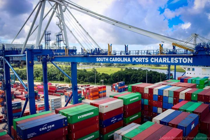SC Ports works mega container ships filled with retail goods. (Photo/SCPA/English Purcell)