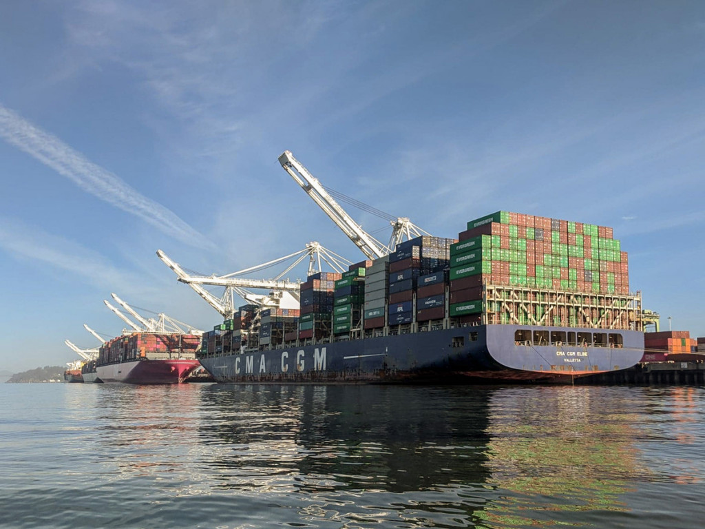 Ships at Berth in Port of Oakland