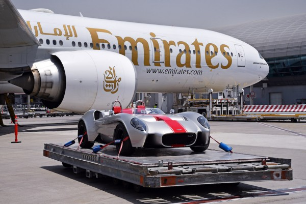 The Jannarelly Design-1 was transported from Dubai by Emirates SkyCargo