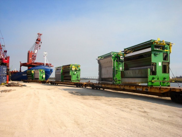 UTC Overseas' expertise in rail logistics helped a midwestern US manufacturer of over-height (15.5 feet) bottle washing machinery move products to the U.S. Gulf for delivery to a South American bottling plant. Trucking or barging the units would have been prohibitively expensive given their dimensions.