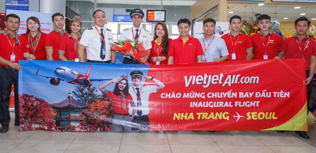 Vietjet celebrated the inauguration of its Nha Trang – Seoul route launch at the Cam Ranh International Airport