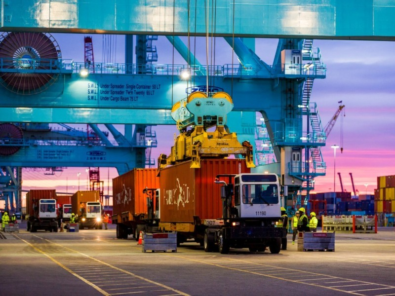 LA Port's container staging facility will boost productivity